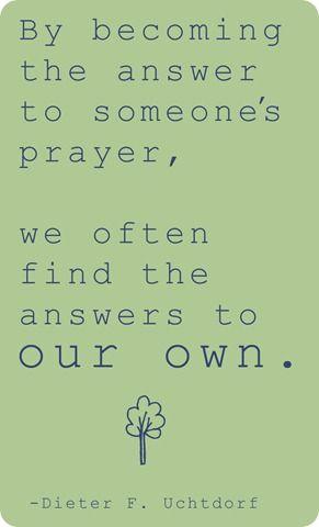 Answer to prayers