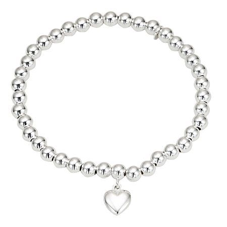 Sterling Silver Fancy Bead Bracelet