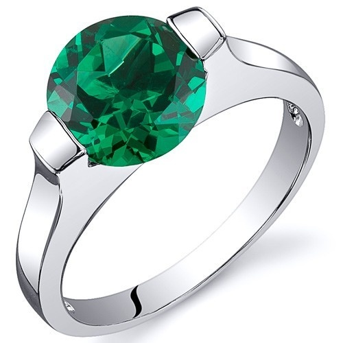 'Gorgeous Lab Emerald Pure .925 Silver Ring SZ 5-9' is going up for auction at  4pm Thu, Nov 8 with a starting bid of $1.