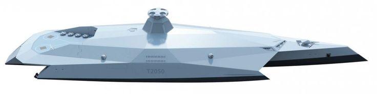 """Sembra uscita dal film Star Wars, ma è già oggi una prova di futuro. Materiale ultra resistente acrilico e trasparente, un drone con un sensore radar al posto dell'albero, una sorta di garage a poppa. Queste sono solo alcune delle caratteristiche della nave del futuro progettata dalla marina militare inglese. Si chiama """"Dreadnought 2050"""" in riferimento alla Dreadnought, la nave da guerra che è entrata in servizio alla Royal Navy nel 1..."""