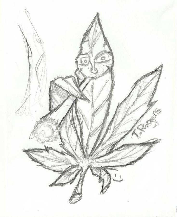Marijuana Leaves Drawings cakepins.com