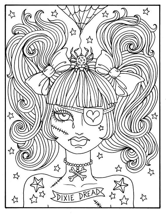 Misfit meisjes 5 pagina's Halloween Misfits, griezelig ...