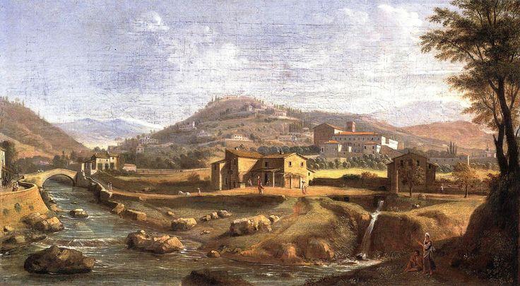 Veduta della Badia Fiesolana - Gaspar Van Wittel detto Vanvitelli (1652/3-1736)