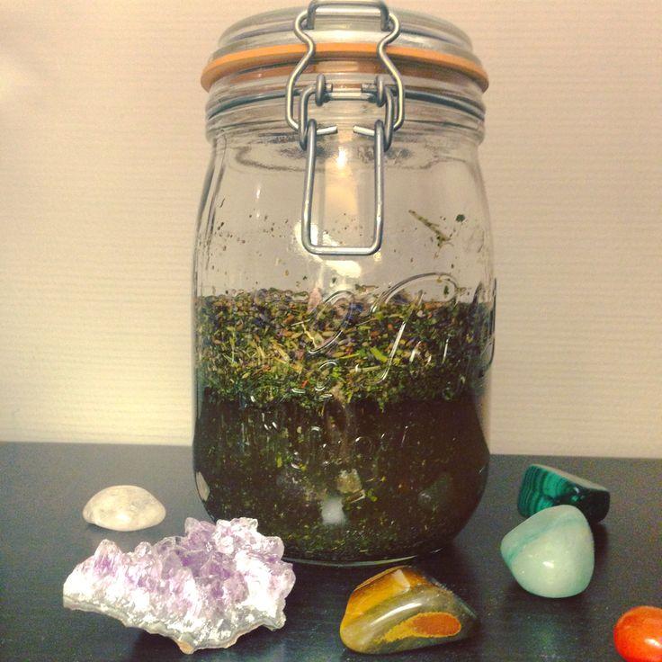 Herbal Tincture made with gemstones elixir