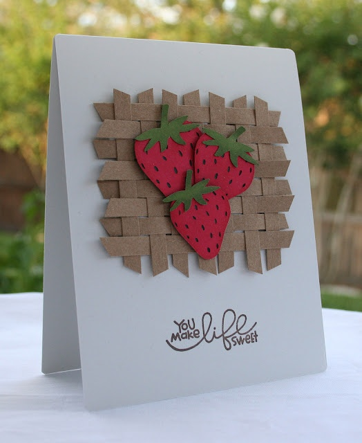 How To Make A Basket Weave Effect : Cute card scrapbook idea basket weave effect with paperl