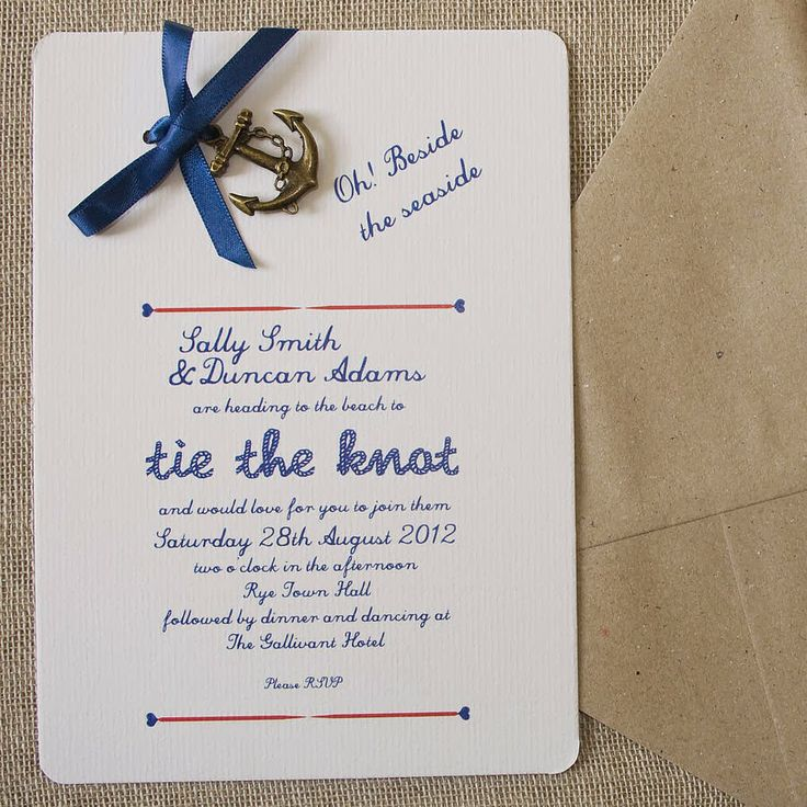 tie the knot wedding invitations etsy%0A Nautical DIY Wedding Invitation Pack by Wedding in a Teacup