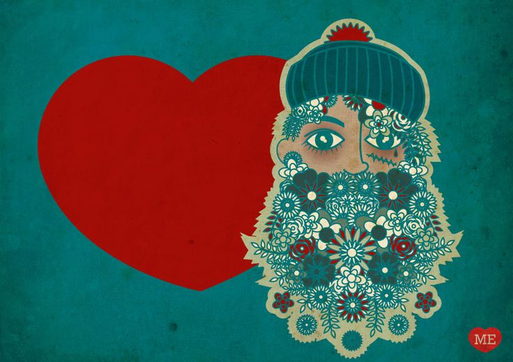 www.piratiesirene.it  #beard #navy #flower #heart #love #sea #sailor