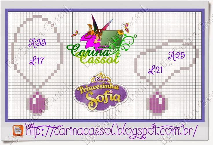 Pontinhos Mágicos: Gráfico Princesinha Sofia versão 2015 + monograma.