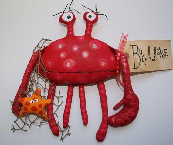 Crab named Blake by buttuglee on Etsy