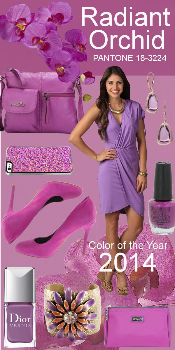 """Pantone describes Radiant Orchid as """"an expressive, creative and embracing purple."""" No wonder Pantone chose it! The color embodies everything we love; plus, it'll look amazing on every skin tone. #radiantorchid #pantone #coloroftheyear #2014"""