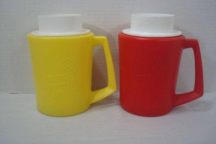 The original slush mug. When frozen, pour in beverage and stir till slushie. 1 red and 1 yellow. | eBay!
