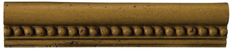 "Natural Stone 12"" x 2"" x 0.37"" Romansa Astra Travertine Chair Rail"
