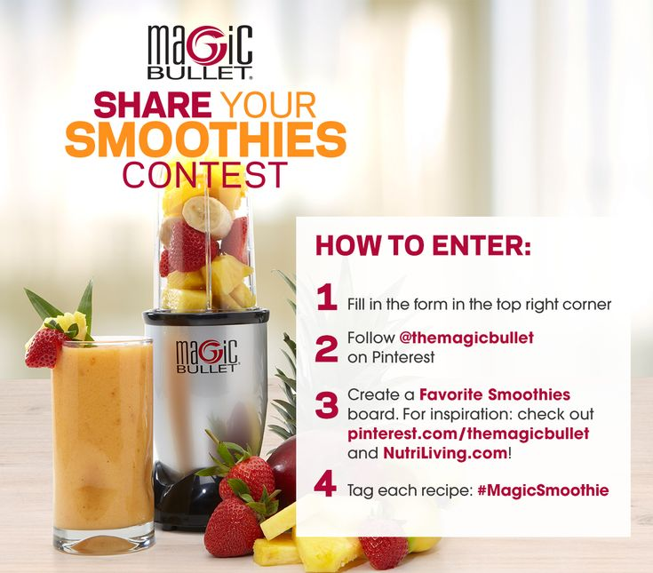 Enter the Magic Bullet Pinterest contest and win a NutriBullet Pro  900 Series unit!