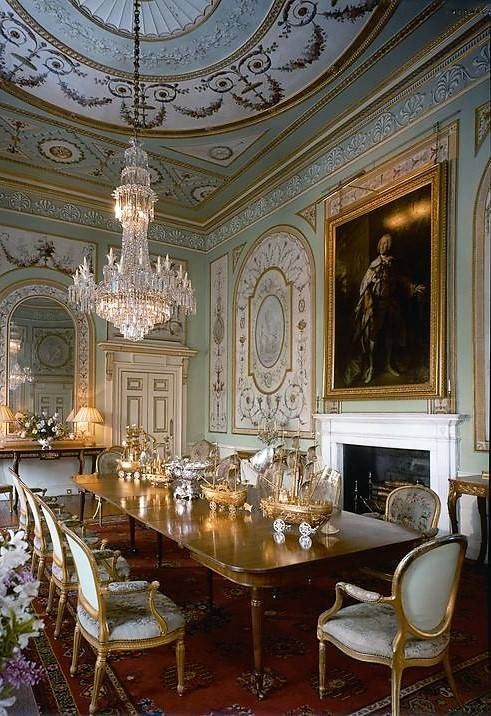 Neoclassical dining, Scotland. A better shot than the one below.