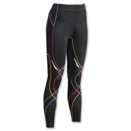 CW-X Stabilyx Women's Running Tights Womens | Run.com | BLK/RAINBOW