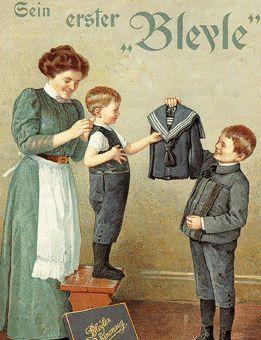 Bleyle Strickwaren aus Stuttgart - Vintage German ad
