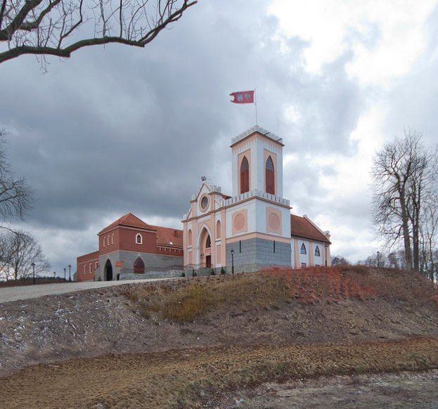 Zamek Gostynin in Poland was founded by the Piast dukes of Mazovia as a defensive castle with a tower.