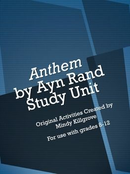 an analysis of anthem a dystopian fiction novella by ayn rand Anthem is a dystopian fiction novella by ayn rand, written in 1937 and first published in 1938 in the united kingdomthe story takes place at an unspecified future date when mankind has entered another dark agetechnological advancement is now carefully planned and the concept of individuality has been eliminated.