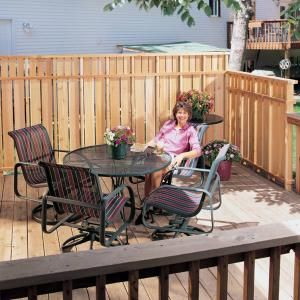 24 best images about re doing the deck on pinterest wood for Privacy from neighbors ideas