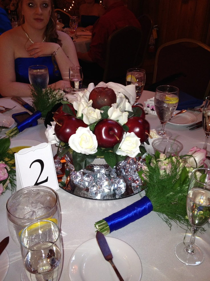 Snow white s table centerpiece crafts for occasions