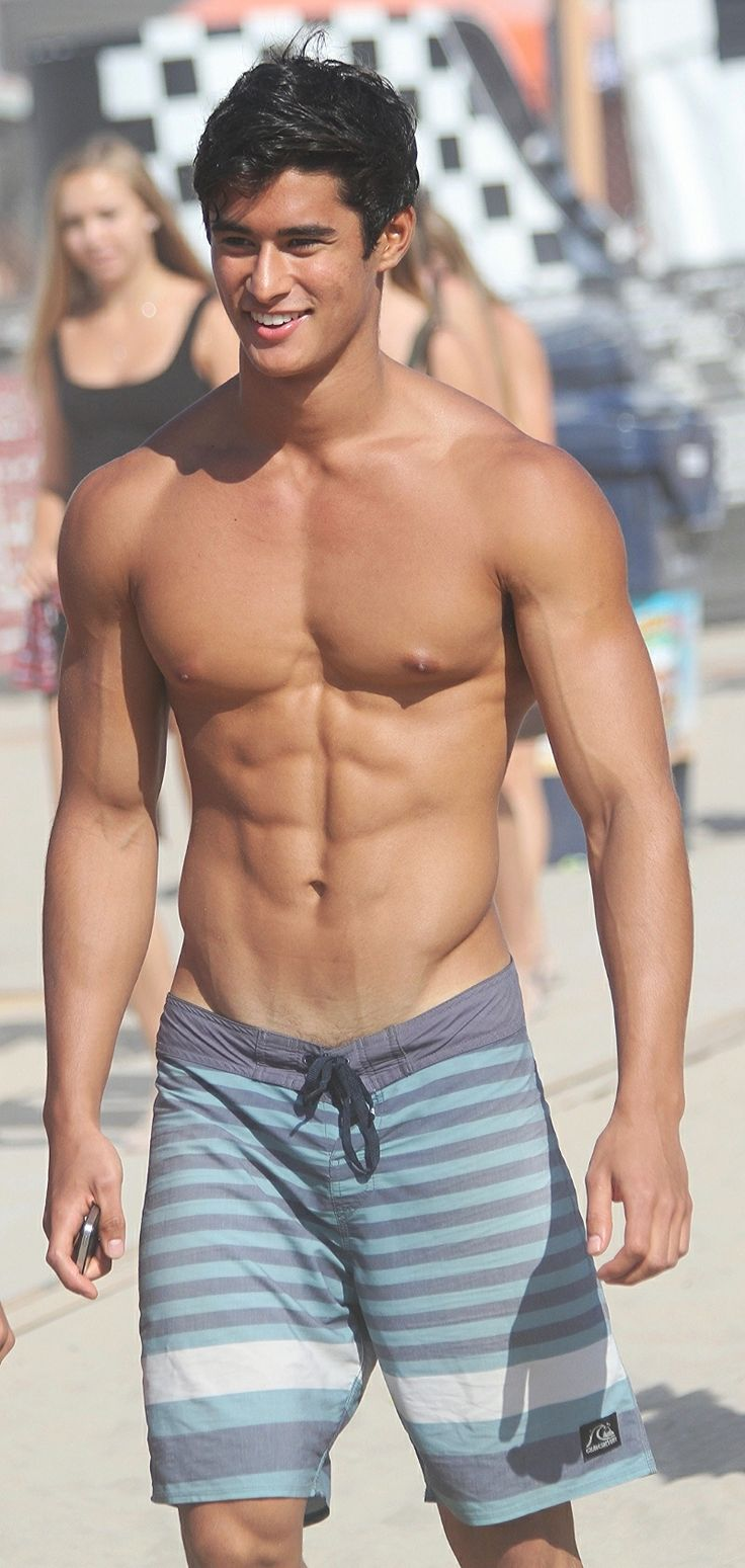 hot guys on the beach