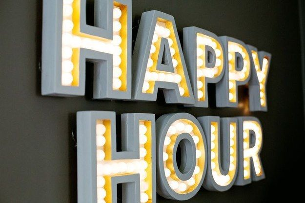 Make a marquee so your house guests will always know what time it is. | 27 Awesome DIY Projects For People Who Love To Drink