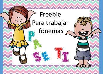Freebie para trabajar fonemas2 paginas una para nio y otra para niaEl espacio para el fonema esta en blanco, usted decide el fonema a trabajar en ese da.
