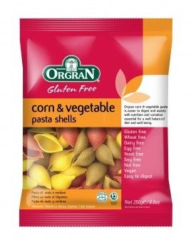 Orgran Corn & Vegetable Pasta Shells - gluten-free