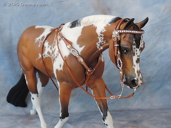 Western Bridle And Breast Collar - model horse tack