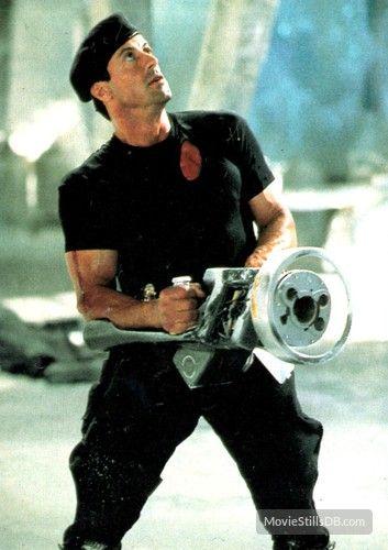Demolition Man publicity still of Sylvester Stallone
