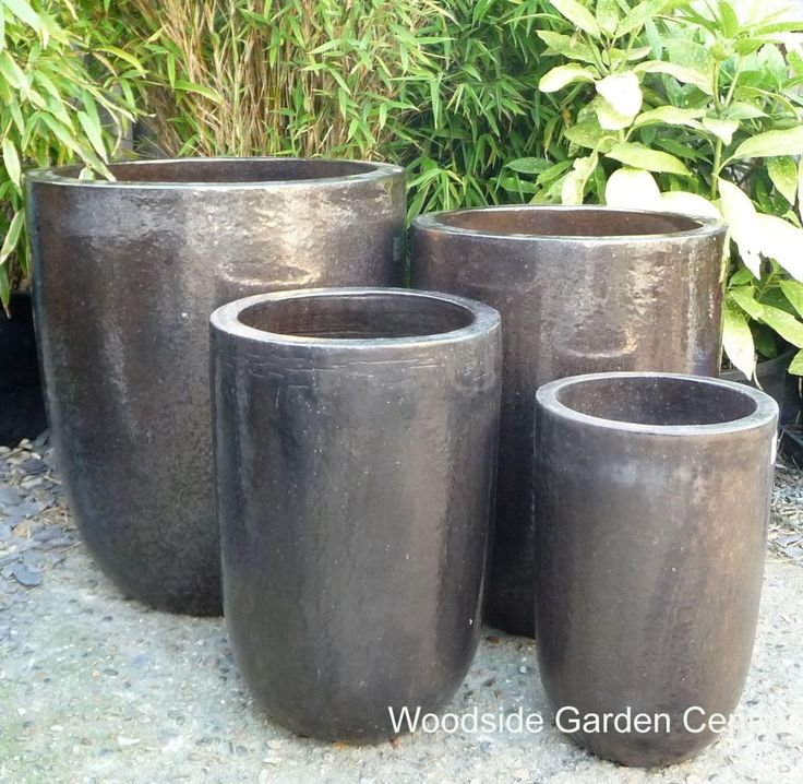Extra Large Outdoor Planters Part - 43: Extra Large Tall Dark Bronze Glazed Pot Planters | Woodside Garden Centre |  Pots To Inspire | Large Dark Brown Bronze Garden Pots | Pinterest | Planters,  ...