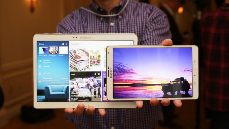 Samsung Galaxy Tab S (10.5-inch) Preview - CNET. Samsung unveils yet 2 more tablets, the Galaxy Tab S in 8.4 and 10.5 inch configurations, at 399 and 499 respectively, with all its features.