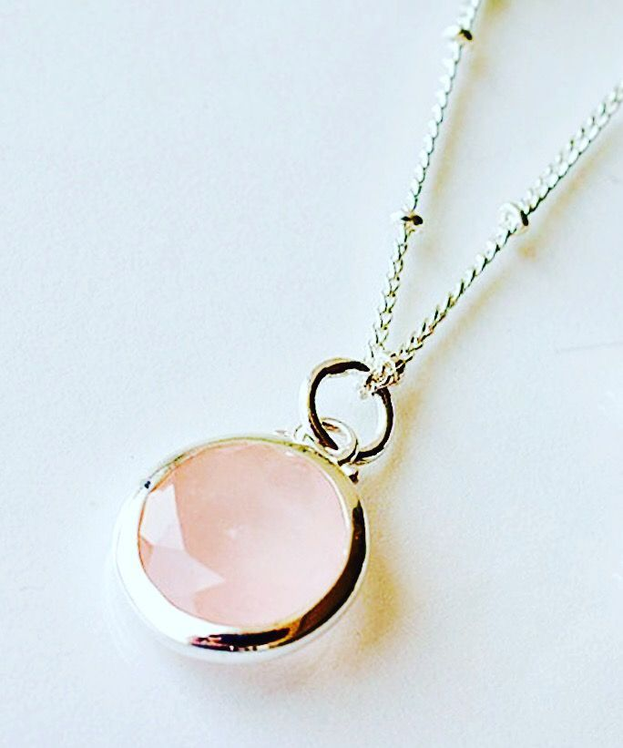 My beautiful pink and silver necklace from Juvi design