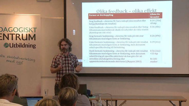 Christian Lundahl 3 -Återkoppling som för lärandet framåt  (video ca 6 min)