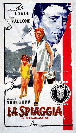 Foto Cinema spiaggia 1953 Commedia Manifesto Martine Carol Raf Vallone Mario Carotenuto Carlo Romano Mara Berni Alberto Lattuada | www.ivid.it
