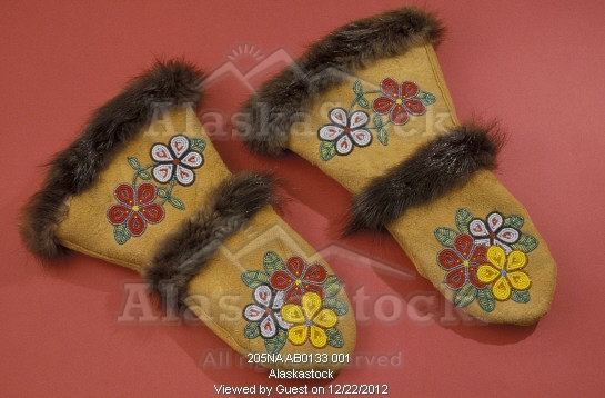 Photo of Athabaskan Beaded Mittens Still Life