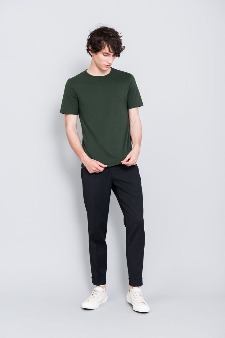 The ASKET T-shirt in dusty green #asket