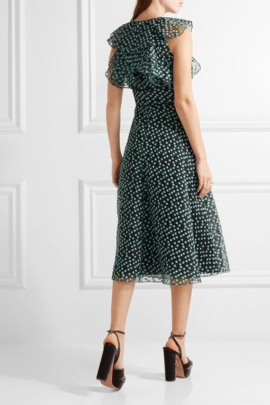 Lela Rose | Ruffled fil coupé organza dress | NET-A-PORTER.COM