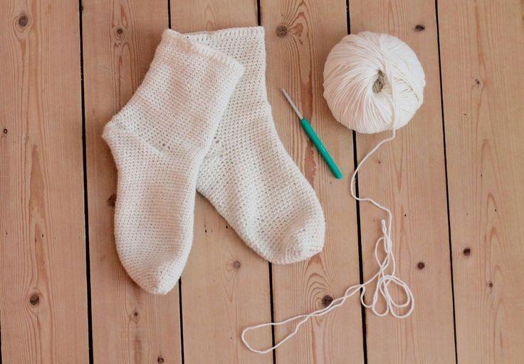 crocheted socks, crochet, socks, you big alpakka, woolspire, wool, recipe
