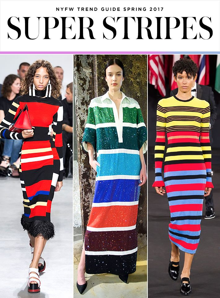 Top 10 Trends from NYFW Spring 2017 | Stripes | Proenza Schouler; Rosie Assoulin; Opening Ceremony | Fashion Week SS17