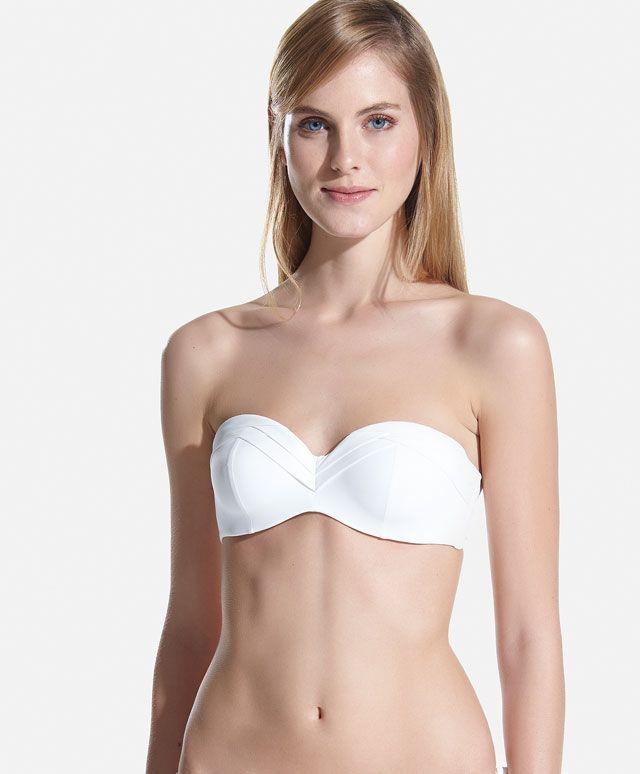 Bandeau bikini foam pliegues