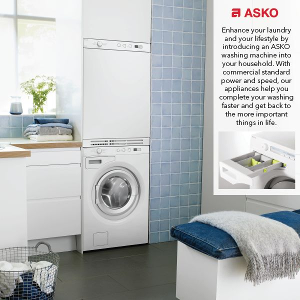 With ASKO, the dream of a beautiful and efficient laundry can easily become a reality. Our laundry appliances are highly functional, packed with fantastic features, and designed with the Scandinavian flair that you'll recognise from our stunning kitchen range.