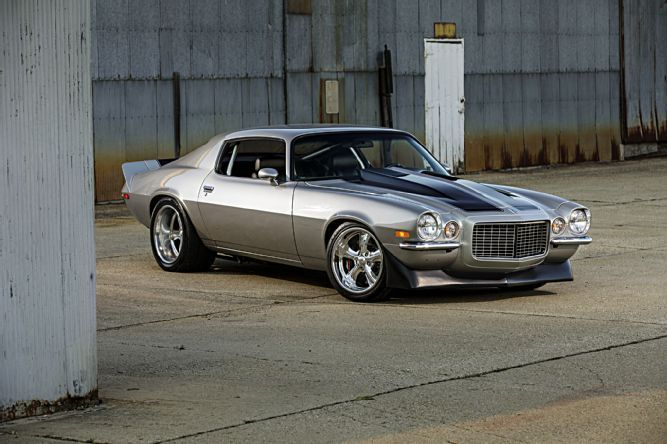 1970 Chevrolet Camaro featuring a big-block engine for power, modern suspension, and a classic street machine appearance.