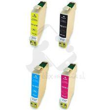 4x Cartuchos Compatibles Tinta Epson Expression Home T1811/2/3/4 14ml Color T7