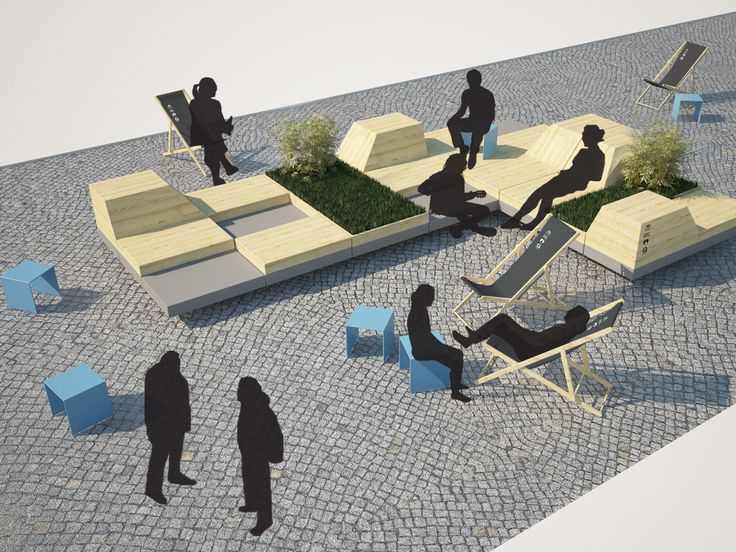 TARG WĘGLOWY 2014 / temporal public space installation / One of designed furniture module.
