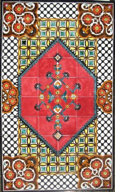 Hand Painted Decorative Tiles Adorable 50 Best Hand Painted Tiles Images On Pinterest  Painted Floor Design Decoration