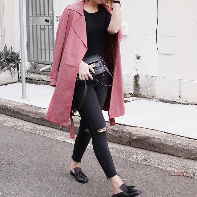 A good pink coat is a definite wardrobe staple for me  @forcastofficial #forcastofficial #spon