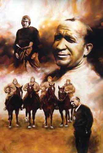 Knute Rockne Notre Dame Fightin Irish Four Horseman Coach Poster