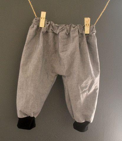 Grey denim Harem Pants