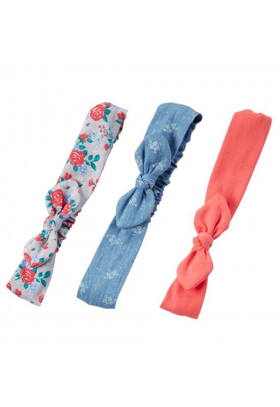 Carter's 3-Pack Knot Bow Headwraps Артикул: TG-V_60328+Multi